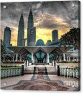 As Syakirin Mosque And Petronas Tower Acrylic Print
