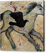 As The Crow Flies Impasto Horse Acrylic Print