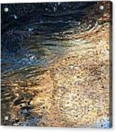 As The Ocean Wave Swirled It Looked Like Gold Acrylic Print