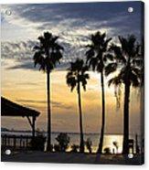 As The Sun Sets South Padre Island Texas Acrylic Print
