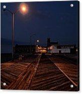 Asbury Park Boardwalk At Night Acrylic Print