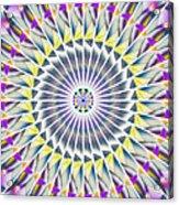 Ascending Eye Of Spirit Kaleidoscope Acrylic Print by Derek Gedney