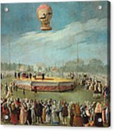 Ascent Of A Balloon In The Presence Of The Court Of Charles Iv Acrylic Print