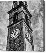 Ascona Clock Tower Bw Acrylic Print