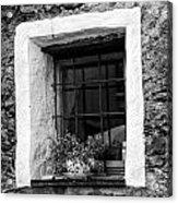 Ascona Window Bw Acrylic Print