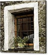 Ascona Window Acrylic Print