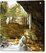 Ash Cave Acrylic Print by Andrea Dale