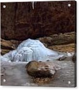 Ash Cave Frozen Over Acrylic Print