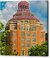 Asheville City Hall Acrylic Print by John Haldane