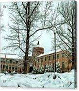 Asheville High School During Winter Acrylic Print