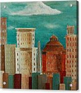 Asheville Skyline Acrylic Print