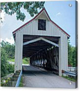Ashtabula Collection - Mechanicsville Road Covered Bridge 7k0207 Acrylic Print