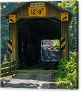Ashtabula Collection - Olin's Covered Bridge 7k01978 Acrylic Print