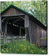 Ashtabula Collection - Riverdale Road Covered Bridge 7k02981 Acrylic Print