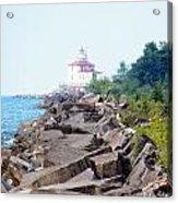 Ashtabula Lighthouse On Lake Erie Acrylic Print