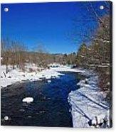 Ashuelot River In Winter Acrylic Print