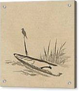 Asian Bird N Boat Acrylic Print