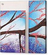 Asian Bloom Triptych 1 2 Acrylic Print