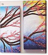 Asian Bloom Triptych 2 3 Acrylic Print
