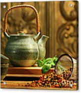 Asian Herb Tea Acrylic Print by Sandra Cunningham