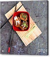 Asian Meatballs 1 Acrylic Print by Jane Rix