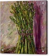Asparagus Wrapped In A Bow Acrylic Print by Barbara Pirkle