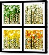 Aspen Colorado Abstract Square 4 In 1 Collection Acrylic Print