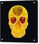 Aspen Leaf Skull 1 Black Acrylic Print