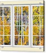 Aspen Tree Magic Cream Picture Window View 3 Acrylic Print by James BO  Insogna