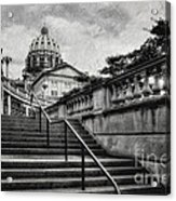 Aspirations In Black And White Acrylic Print