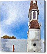 Aspiring Chapel Impasto Acrylic Print