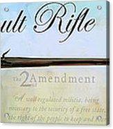 Assault Rifle Acrylic Print by GCannon