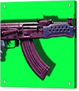 Assault Rifle Pop Art - 20130120 - V3 Acrylic Print by Wingsdomain Art and Photography