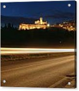 Assisi By Night Acrylic Print