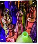 Assorted Colored Bottles Acrylic Print