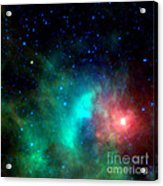 Asteroid Zips By Orion Nebula Acrylic Print