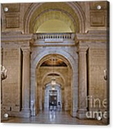 Astor Hall At The New York Public Library Acrylic Print