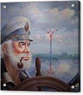 Astounding Sea Captain Original Or Map Captain 1987 Acrylic Print