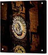 Astronomical Clock Prague Czech Republic Acrylic Print