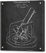 Astronomical Telescope Patent From 1943 - Dark Acrylic Print