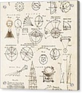 Astronomy Diagrams Acrylic Print