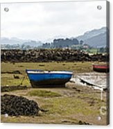 Asturias Seascape With Boats Acrylic Print
