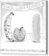 At A School Lunch Reunion Acrylic Print