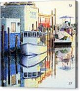 At Cortez Docks Acrylic Print