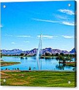 At Fountain Park Acrylic Print