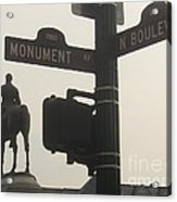 at Monument and Boulevard Acrylic Print by Nancy Dole McGuigan