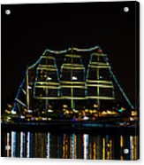 At Night On The  Delaware River - The Mushulu Acrylic Print
