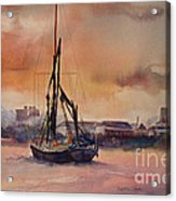 At Rest On The Thames London Acrylic Print