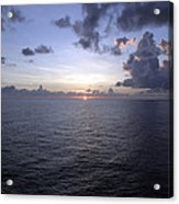 At Sea -- A Sunrise Begins Acrylic Print