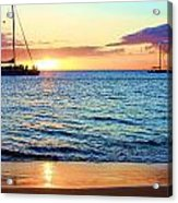 At Sea Sunset Acrylic Print